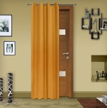 Story @ Home Story @ Home Silk Mustard Solid Door Curtain