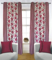 Fabutex 100% Polyester Door Curtain (Pack Of 2, 210 Cm In Height)