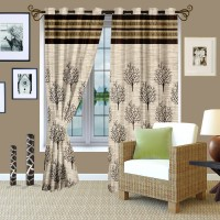 Story @ Home Jacquard Window Curtain (Single Curtain, 23 Inch/60 Cm In Height, Multicolor)