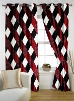 Story @ Home Polyester Multicolor Door Curtain 210 Cm In Height, Single Curtain - CRNE4FVHNV8FF6HV