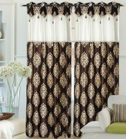 Hargunz 100% Polyester Door Curtain (Pack Of 2, 214 Inch In Height)