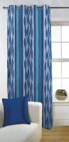 Fabutex Polyester Door Curtain (Single Curtain, 82 Inch/210 Cm In Height, Blue)