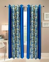 Urban Arts Polyester Blue Door Curtain 274.32 Cm In Height, Single Curtain