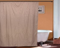 Just Linen Polyester Tan Door Curtain 178 Cm In Height, Single Curtain