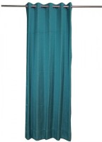 ANIQ Polycotton Blue Plain Curtain Door Curtain 210 Cm In Height, Single Curtain