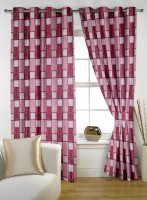 Story @ Home Polyester Maroon Window Curtain 150 Cm In Height, Single Curtain