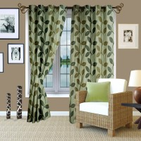 Story @ Home Polyester Green Printed Door Curtain 210 Cm In Height, Pack Of 2