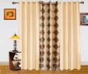 Dekor World Damask Design And Plain Combo Design Window Curtain - CRNDQAY6RDYUXQXW