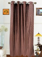 Dekor World Polyester Brown Door Curtain 215 Cm In Height, Single Curtain