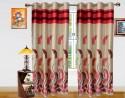 Dekor World Autam Leaf Panel Door Curtain - Pack Of 2