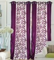 Decor Vatika Polyester Purple Abstract Door Curtain 214 Cm In Height, Single Curtain