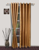 S9home By Seasons Polyester Brown Long Door Curtain 260 Cm In Height, Pack Of 2