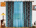 Dekor World Circle Bonanza With Sheer Window Curtain - Pack Of 3
