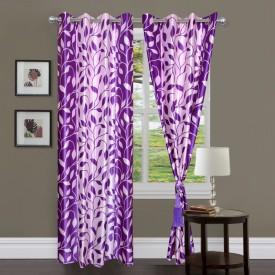 Brand Decor Polycotton Multicolor Printed Eyelet Door Curtain