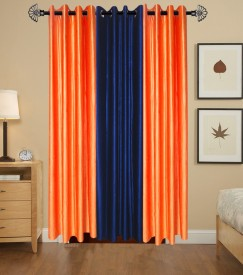 shop24decor Polyester Multicolor Plain Eyelet Door Curtain
