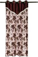 Zikrak Exim Polyester Door Curtain (Single Curtain, 84 Inch/215 Cm In Height, Brown)