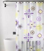 TJAR PVC Multicolor Floral Ring Rod Window & Door Curtain 180 Cm In Height, Single Curtain - CRNEA7TSAQH8BD7R