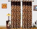 Dekor World Cheerful Leaf Patten Door Curtain - Pack Of 2