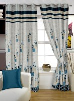 Story @ Home Jacquard Grey Window Curtain 152 Cm In Height, Single Curtain