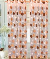 Decor Vatika Polyester Beige, Orange Door Curtain 274 Cm In Height, Single Curtain
