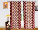 Dekor World Double Damask Door Curtain - Pack Of 2