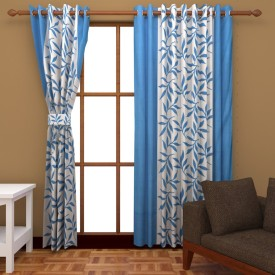 BSB Trendz Polyester Multicolor Abstract Eyelet Window & Door Curtain