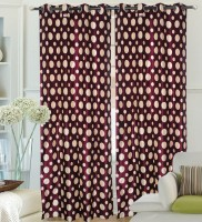 Hargunz Polyester Lavender Printed Door Curtain 214 Cm In Height, Single Curtain