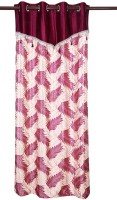 Zikrak Exim Polyester Purple Solid Door Curtain 215 Cm In Height, Single Curtain
