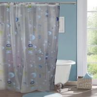 Gran Polyester Shower Curtain (Single Curtain, 78 Inch/200 Cm In Height, Multicolour)