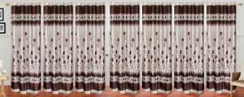 Stella Creations Polyester Brown Printed Eyelet Door Curtain
