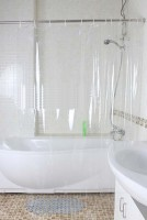 Glassiano PVC Transparent Plain Rod Pocket Door Curtain 213.36 Cm In Height, Single Curtain