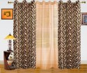 Dekor World Animal Print And Sheer Combo Door Curtain