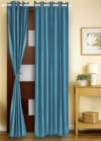 Dreams Polyester Blue Door Curtain 213 Cm In Height, Single Curtain