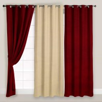Story @ Home Polyester Multicolor Solid Eyelet Door Curtain 215 Cm In Height, Pack Of 3 - CRNECCP8NY9WYFGH