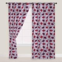 Presto Polyester Maroon, Grey Window Curtain 150 Cm In Height, Single Curtain