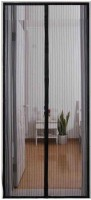 KARP Polyester, Net Black Plain Curtain Door Curtain 100 Cm In Height, Single Curtain