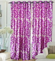 Hargunz Polyester Pink Door Curtain 214 Cm In Height, Single Curtain