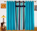 Dekor World Ultimate Stripes With Solid Door Curtain - Pack Of 3 - CRNDXM38WHYF42ZC