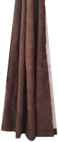 Fashionhaven Polyester Brown Solid Curtain Door Curtain 6 Cm In Height, Single Curtain