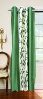 Trendy Home Polyester Green Door Curtain 210 Cm In Height, Single Curtain