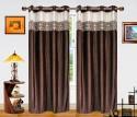 Dekor World Batik Jacquard Door Curtain - Pack Of 2 - CRNDXM38BJW84RT5
