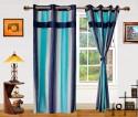 Dekor World Ultimate Stripes Window Curtain - Pack Of 2