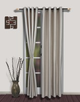 S9home By Seasons Polyester Grey Door Curtain 102 In Height, Pack Of 2