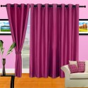 Cortina Plain Crush Window Curtain - Pack Of 2