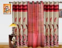 Dekor World Autam Leaf Panel Long Door Curtain - Pack Of 3 - CRNEY8FS4U2GVGZT