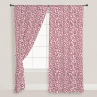 Smart Home Textile Cotton Pink Door Curtain 210 Cm In Height, Single Curtain