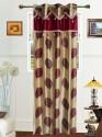 Dekor World Big Leaf Lace Collection Door Curtain - CRNDU2FVUCJWZHFP