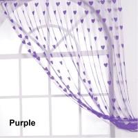JBG Home Store Purple Window & Door Curtain 213 Inch In Height, Pack Of 2
