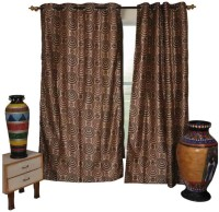 The Fancy Mart Polyester Multicolor Printed Eyelet Door Curtain 210 Cm In Height, Pack Of 2 - CRNE5BAHQXNRGHMF