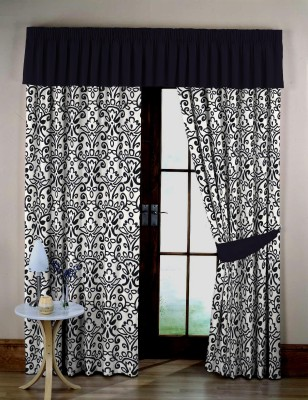 Miyanbazaz Cotton Multicolour Floral, Printed Curtain Door Curtain 245 Cm In Height, Single Curtain